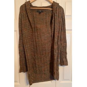 Derek Heart Brown Hooded Cardigan